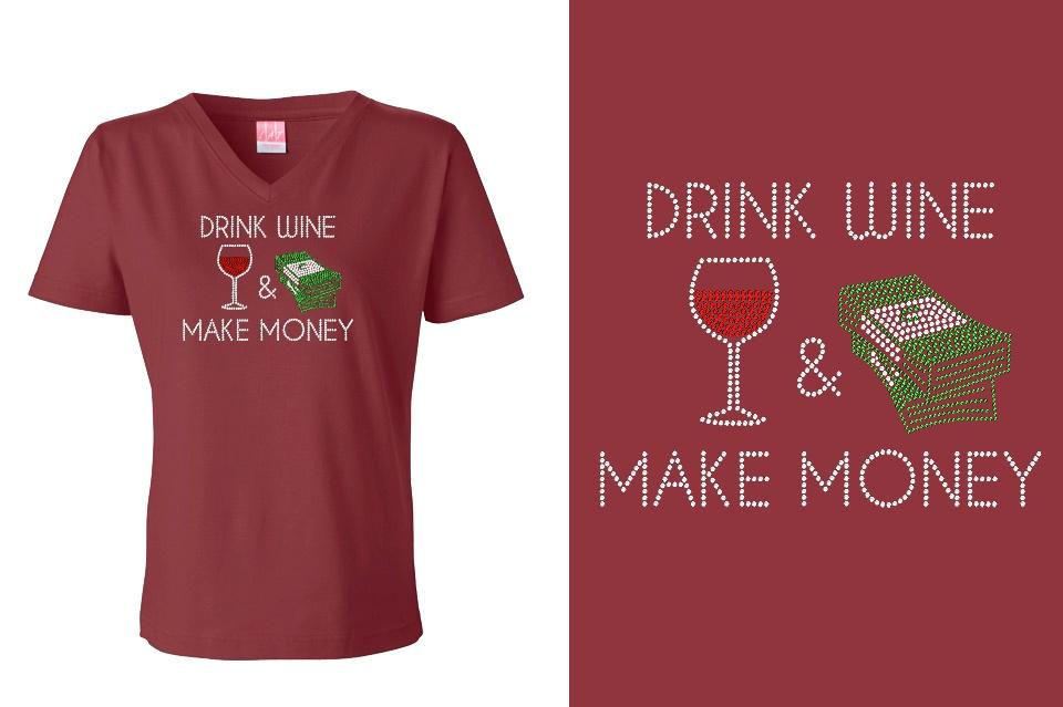 AH2959B-WSAH-Drink-Wine-Make-Money-LA-T-L-3587-Maroon